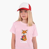 Детская футболка для девочек Лайк (Likee) (25186-1033) Розовый, фото 1