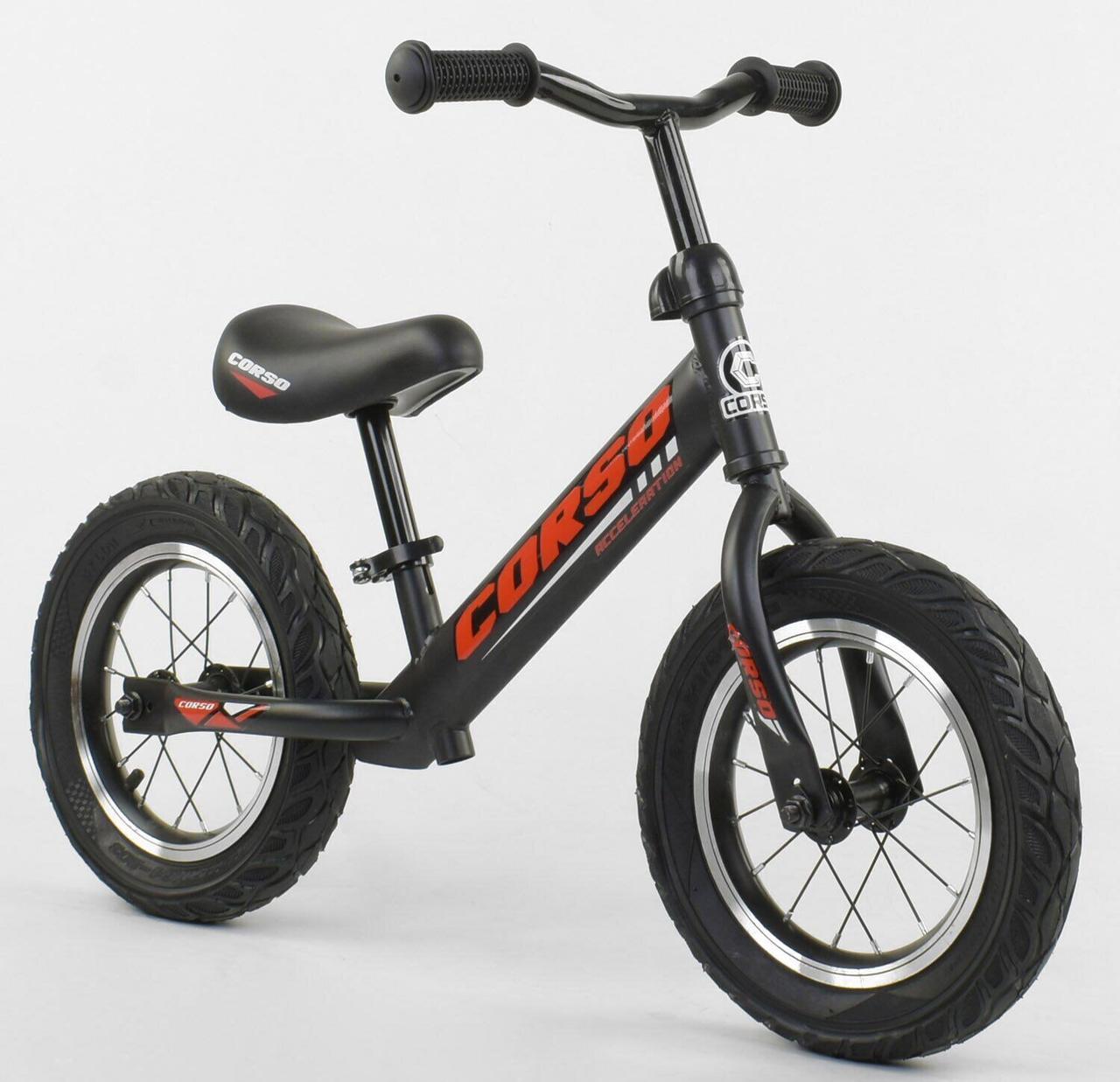 Велобег CORSO 63908  стальная рама колесо 12 надувные колёса