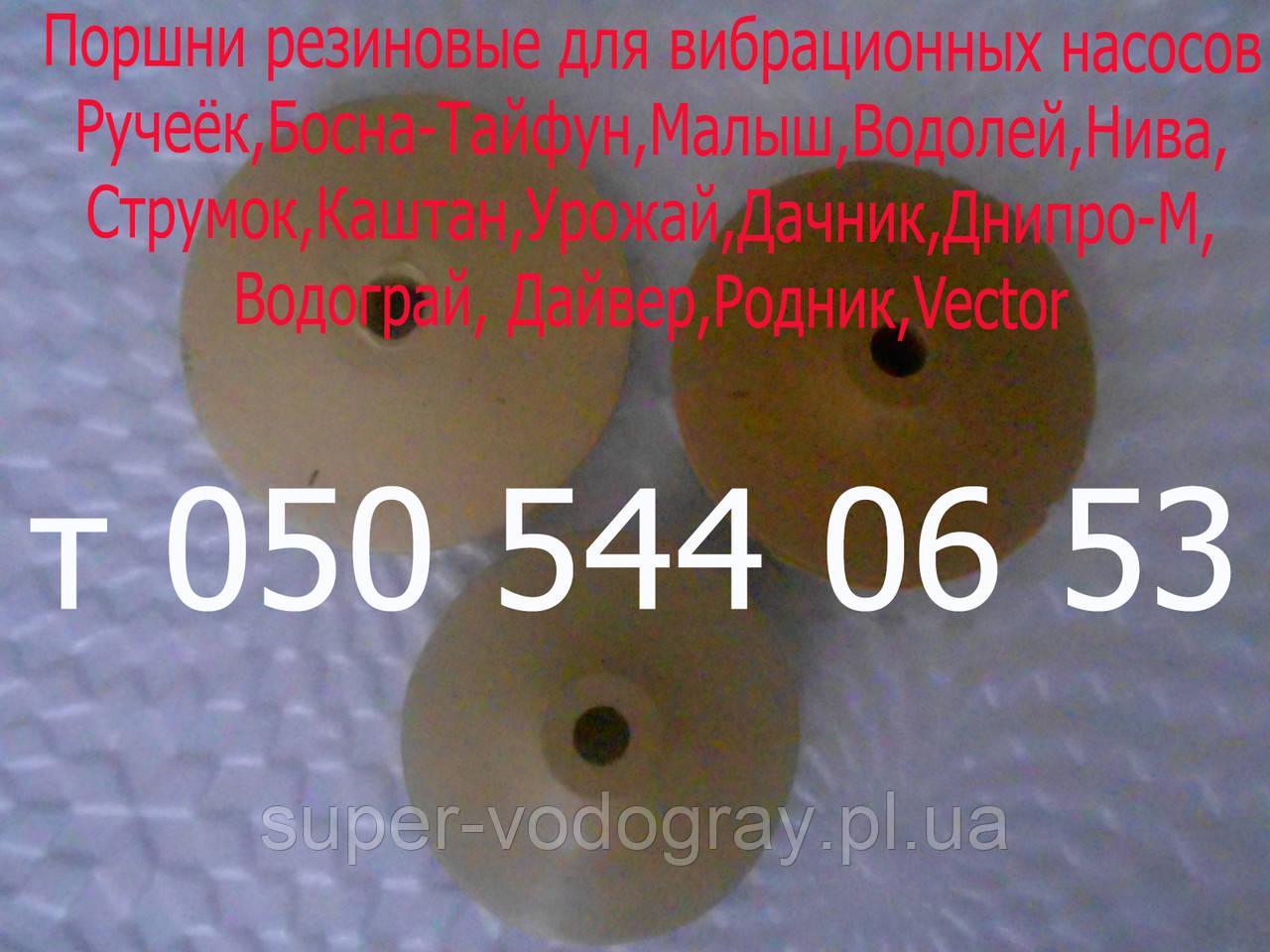 Поршень для вибрационного насоса Ручеек, Босна, Водолей, Малыш, Урожай, Дачник, Нива, Гейзер, Силач