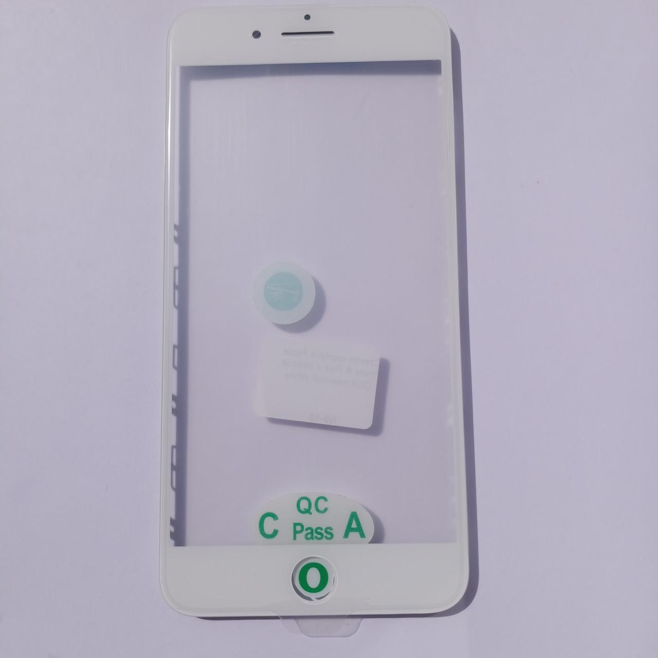 Скло корпусу Novacel для Apple iPhone 8 Plus з рамкою OCA плівкою White