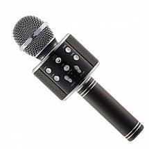 Беспроводной микрофон-колонка караоке с динамиком UTM WS858 Black, фото 3