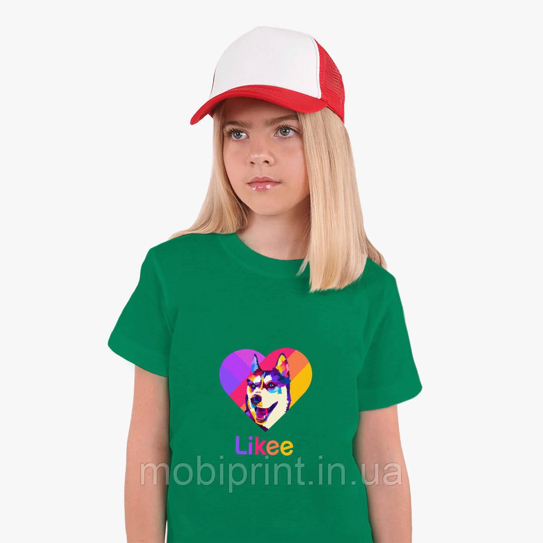 Детская футболка для девочек Лайки Лайка (Likee) (25186-1598) Зеленый