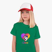 Детская футболка для девочек Лайки Лайка (Likee) (25186-1598) Зеленый, фото 1