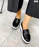 Черные кожаные слипоны на платформе женские, фото 6