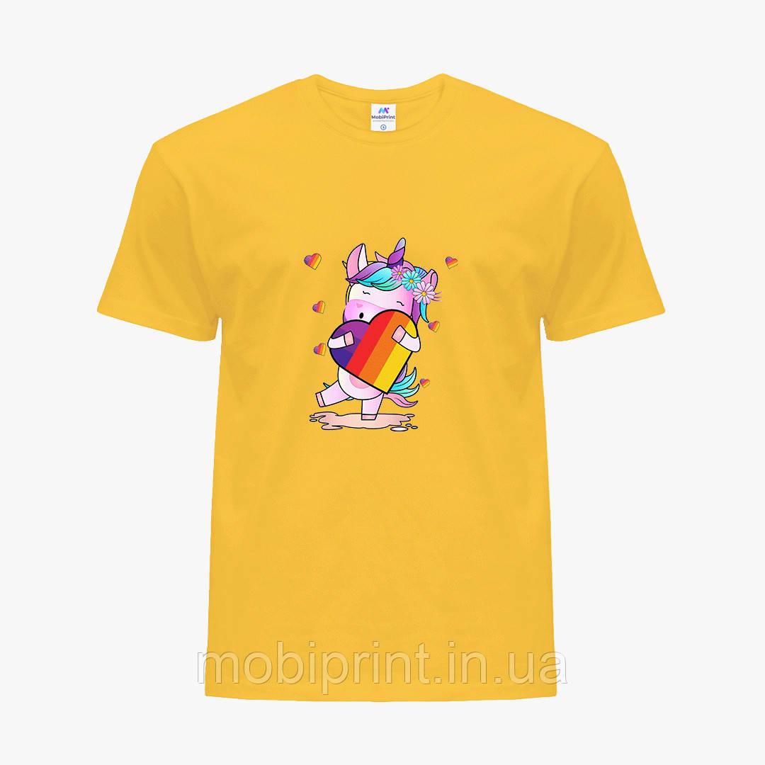 Детская футболка для девочек Лайк (Likee) (25186-1469) Желтый