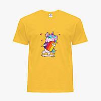 Детская футболка для девочек Лайк (Likee) (25186-1469) Желтый, фото 1