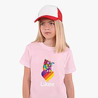 Детская футболка для девочек Лайк (Likee) (25186-1470) Розовый, фото 1