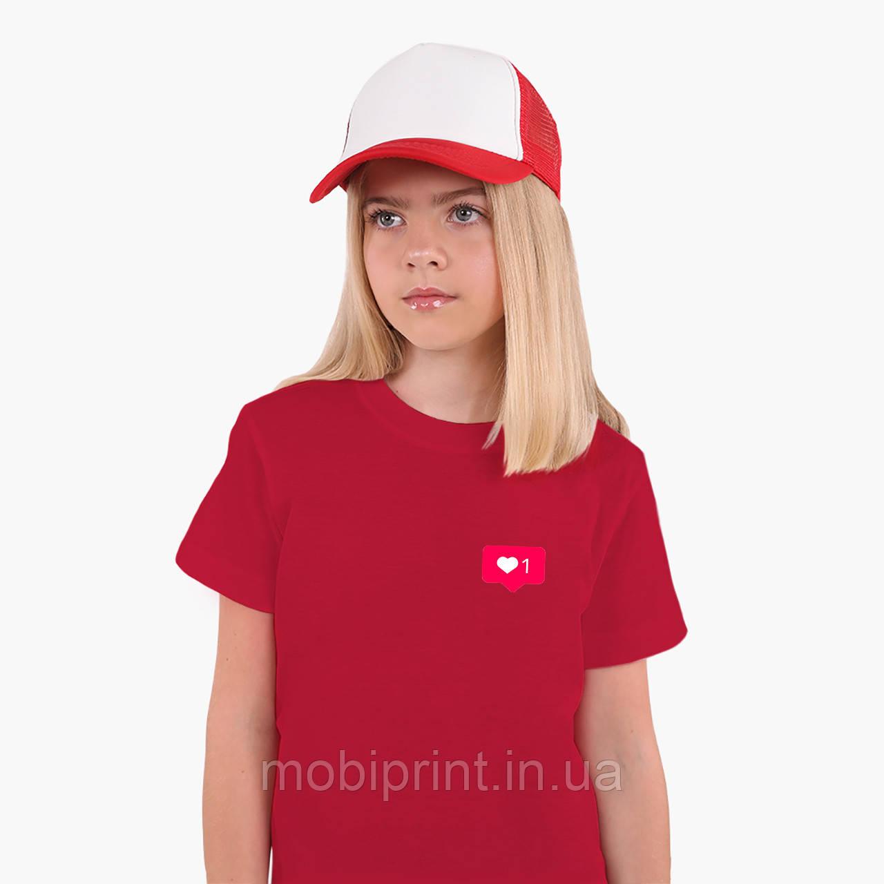 Детская футболка для девочек Лайк (Likee) (25186-1034) Красный