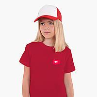 Детская футболка для девочек Лайк (Likee) (25186-1034) Красный, фото 1