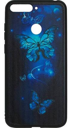 Накладка Huawei Y6 Prime (2018)/Honor7A Pro Butterflies Blue Night case, фото 2