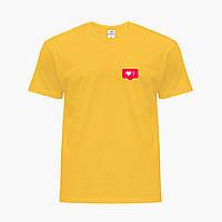 Детская футболка для девочек Лайк (Likee) (25186-1034) Желтый, фото 1