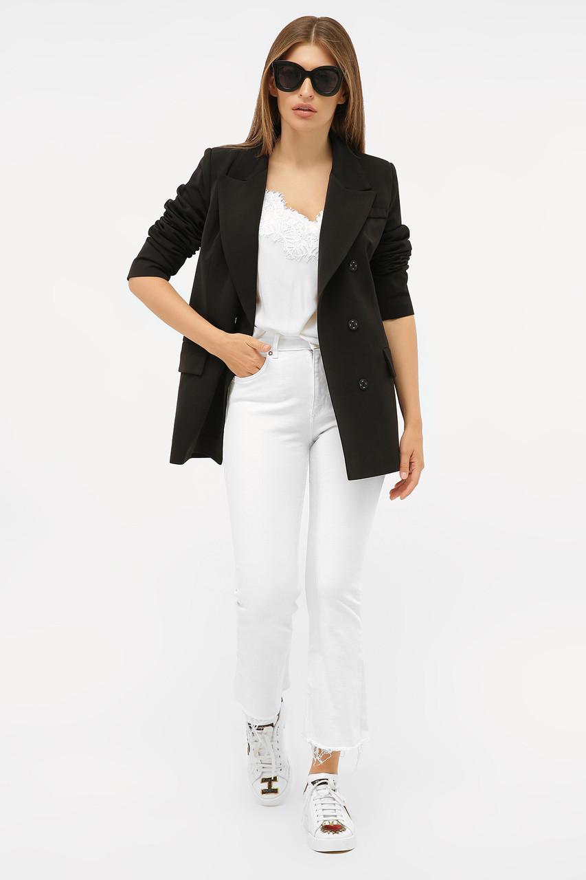 Женский бежевый пиджак из костюмной ткани Размеры  S M L XL