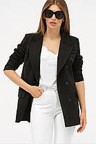 Женский бежевый пиджак из костюмной ткани Размеры  S M L XL, фото 3