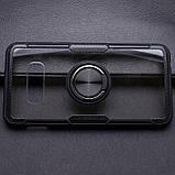 Чехол бампер Primolux Ring Magnetic Stand для смартфона Samsung Galaxy S10e (SM-G970) - Black, фото 2