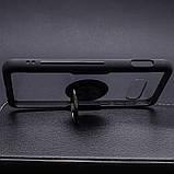 Чехол бампер Primolux Ring Magnetic Stand для смартфона Samsung Galaxy S10e (SM-G970) - Black, фото 4