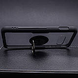 Чохол бампер Primolux Ring Magnetic Stand для смартфона Samsung Galaxy S10e (SM-G970) - Black, фото 4
