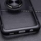 Чехол бампер Primolux Ring Magnetic Stand для смартфона Samsung Galaxy S10e (SM-G970) - Black, фото 5