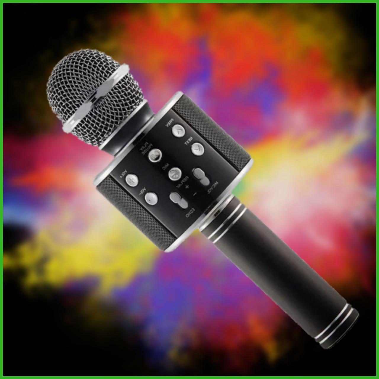 Беспроводной микрофон-колонка караоке с динамиком UTM WS858 Black