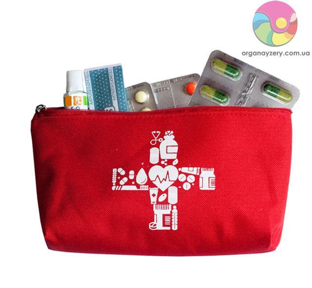Сумочка для хранения лекарств (красный)