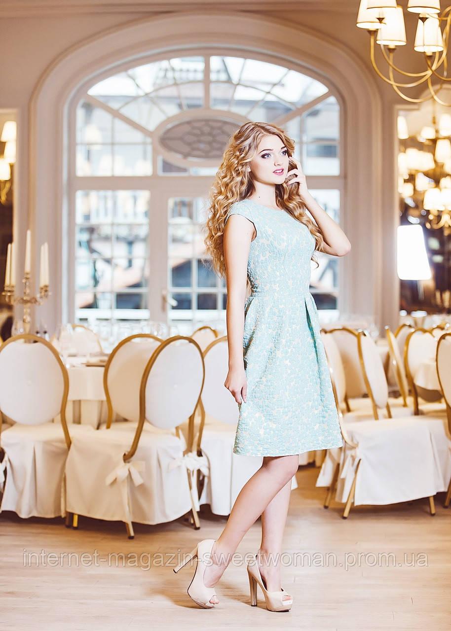 Сукня салатова з золотом VH