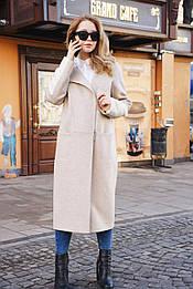 Пальто бежеве кашемір Delcorso