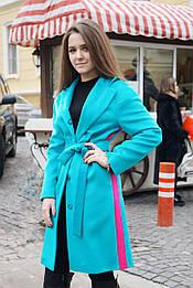 Пальто блакитне Delcorso