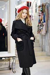 Пальто чорне Delcorso