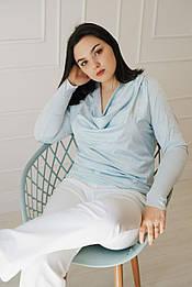 Голуба блуза VH