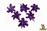 Цветы Крокус фиолетовый с тычинками из фоамирана (латекса) 3 см 10 шт/уп