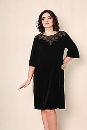 Оксамитова чорна сукня VEREZHIK HOUSE