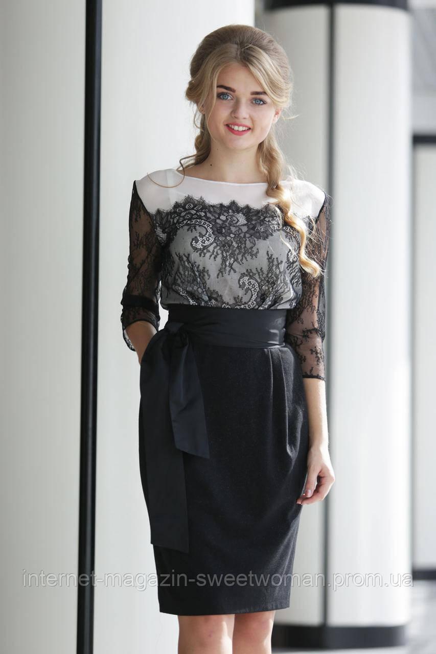 Сукня чорно-біла VEREZHIK HOUSE