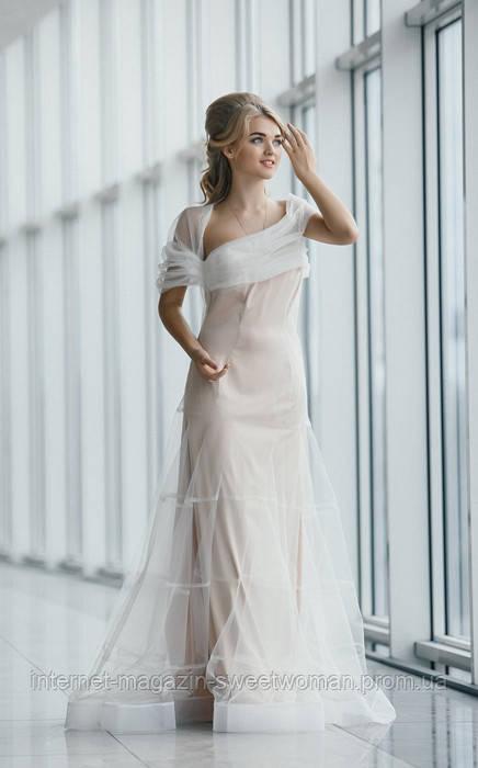 Вечірня сукня молочна VH
