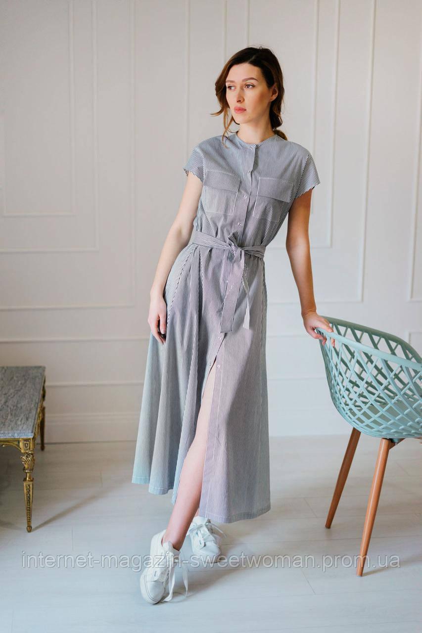 Котонова сукня в полоску Verezhik house
