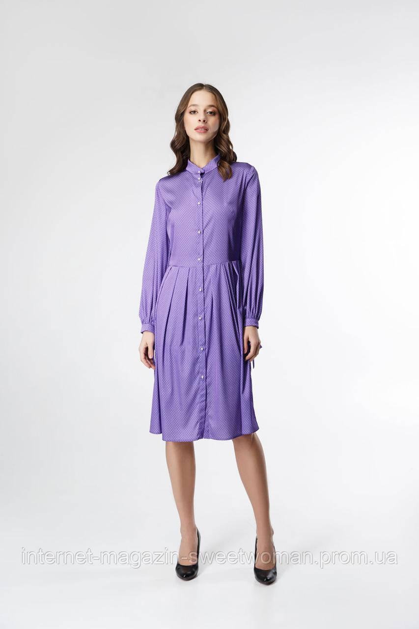 Сукня фіолетова в горох VEREZHIK HOUSE