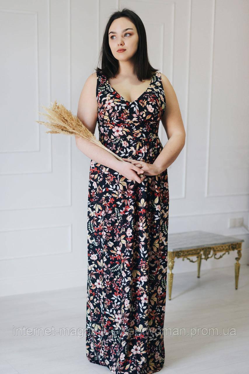 Сукня VH чорна в квіти