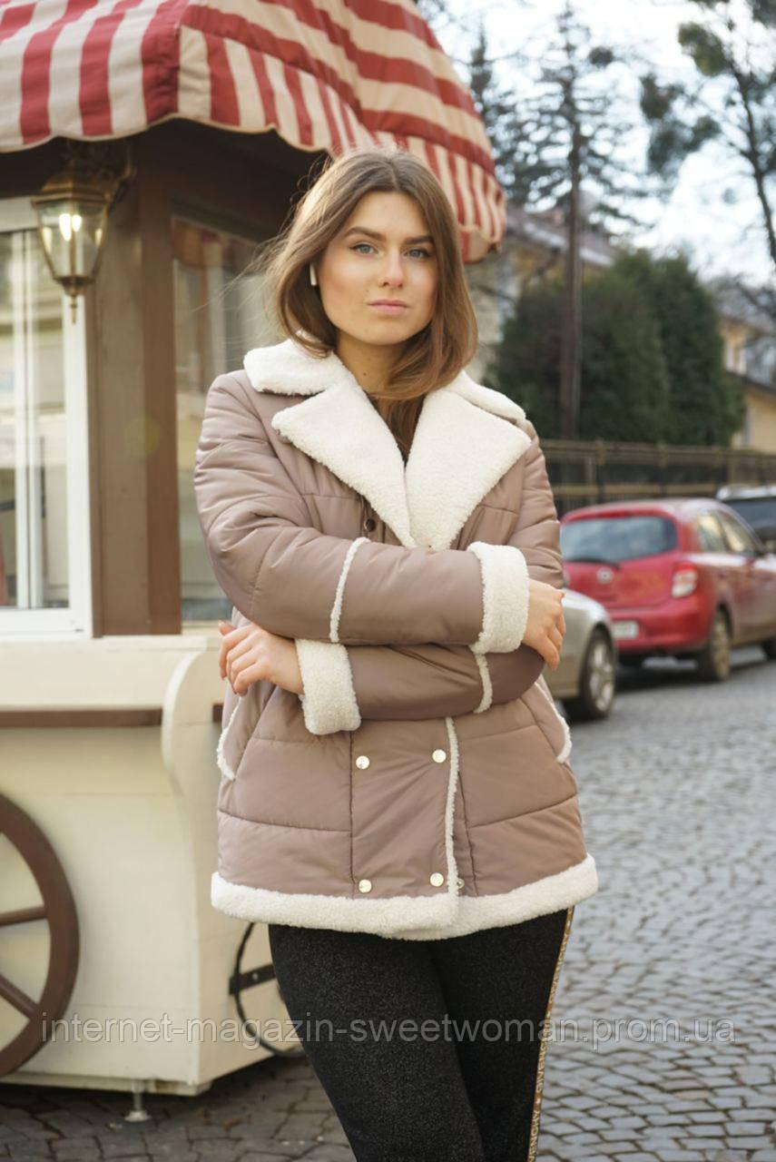 Стильна бежева куртка  Retto