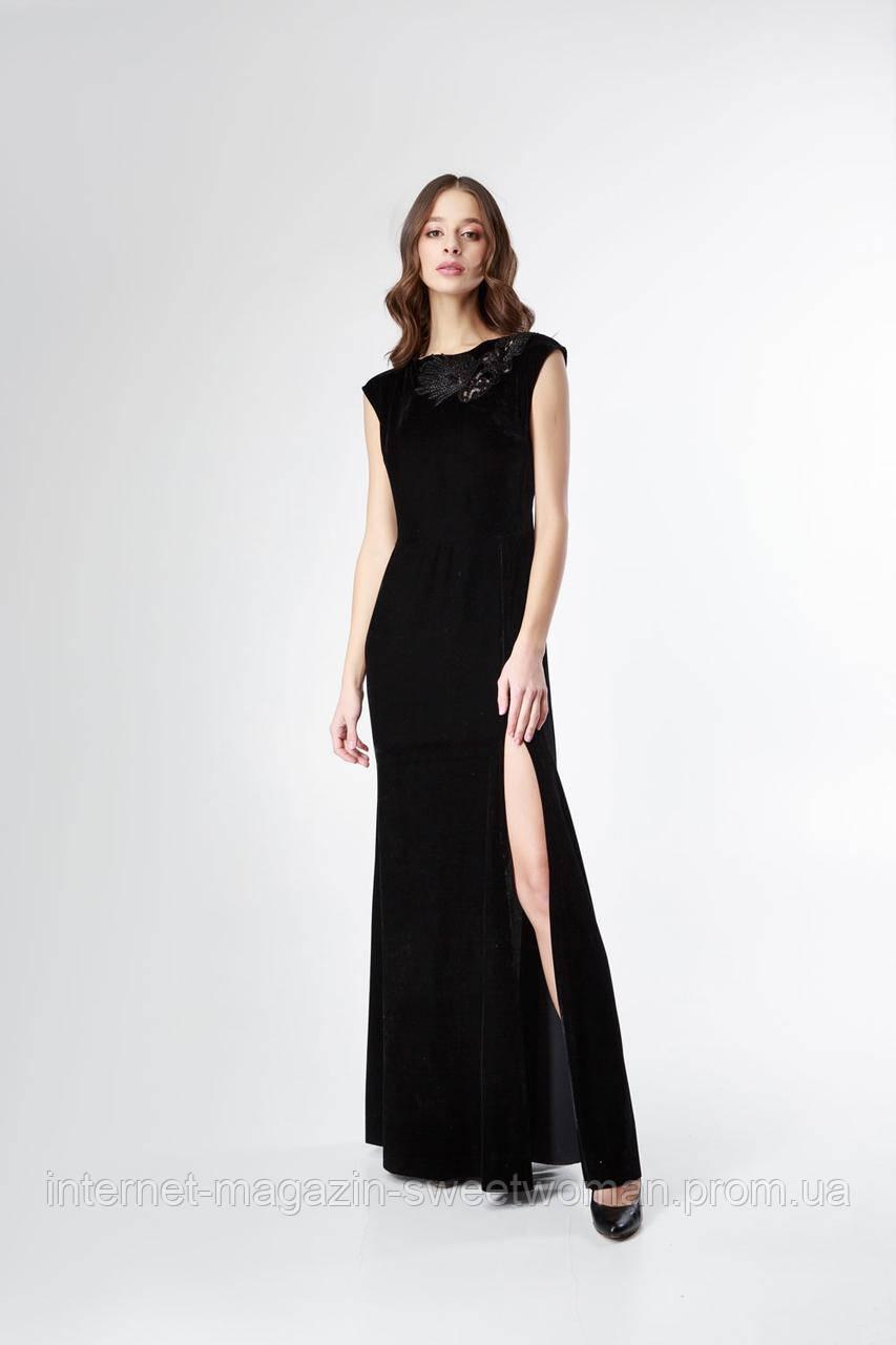 Вечірня сукня бархат аплікація Verezhik House