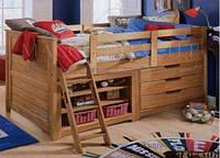 Односпальная кровать чердак с ящиками - Магнат, фото 1