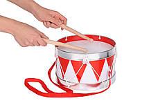 Музыкальный инструмент Goki Барабан с шлейкой красный (61001G), фото 2