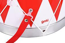 Музыкальный инструмент Goki Барабан с шлейкой красный (61001G), фото 3