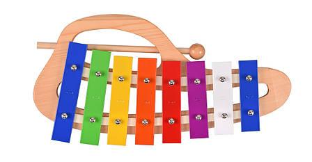 Музыкальный инструмент Goki Ксилофон радуга с ручкой (61979G), фото 2