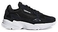 """Мужские Кроссовки Adidas Falcon """"Black White"""" - """"Черные Белые"""", фото 1"""