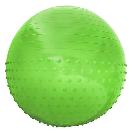 Мяч для фитнеса (фитбол) полумассажный SportVida 55 см Anti-Burst SV-HK0291 Green, фото 2