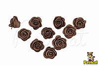 Цветы Розы Шоколадные из фоамирана (латекса) 2 см 10 шт/уп