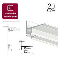 Shadowline Masonry профиль белый 250 см (для гипсокартонного потолка)