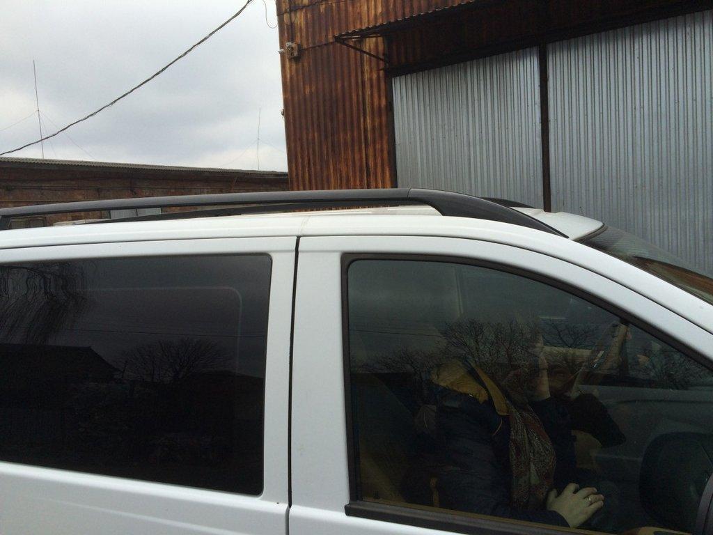 Mercedes Vito 639 Черные рейлинги со стальным креплением короткая база Мерседес Бенц Вито W639