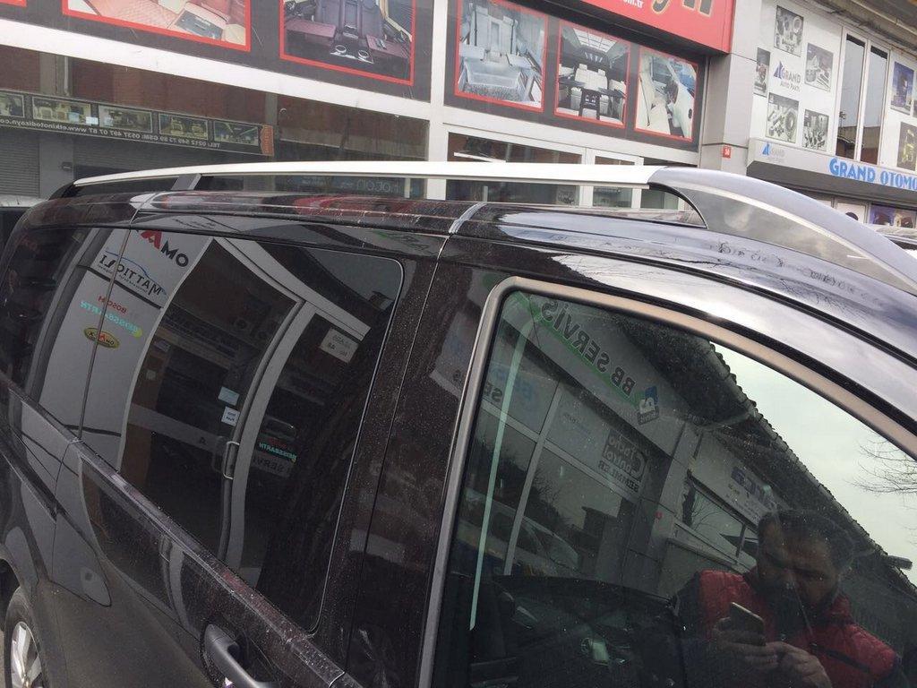 Mercedes Vito 639 Рейлинги ELITE хром с пластиковым кронштейном длинная база Мерседес Бенц Вито W639
