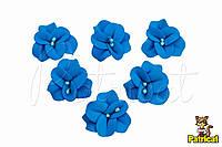 Цветы Фиалка голубая с тычинками из фоамирана (латекса) 3 см 10 шт/уп