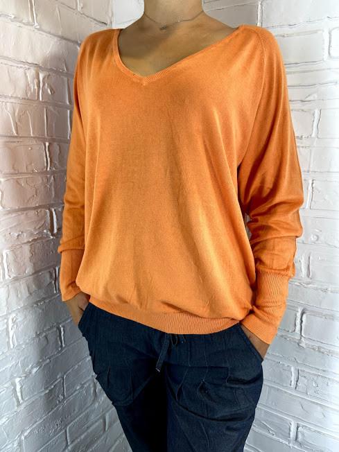 Кофта женская оранжевая Zhi Cheng 129  М