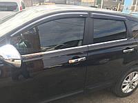 Nissan Qashqai Хром окантовка стекол из стали Carmos Ниссан Кашкай, фото 1